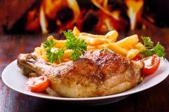 Piedino di pollo arrostito Immagini Stock