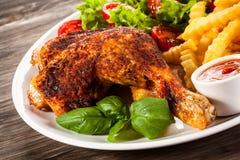 Piedino di pollo arrostito Fotografie Stock