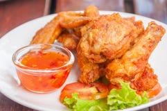 Piedino di pollo fritto Fotografia Stock Libera da Diritti