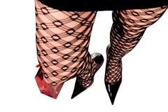 Piedino sexy in calza Fotografie Stock Libere da Diritti