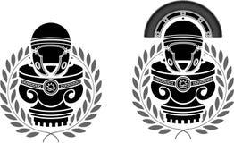 Piedistalli dei caschi romani Fotografia Stock