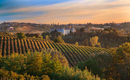 (Piedmont, Italia): paisaje Fotografía de archivo