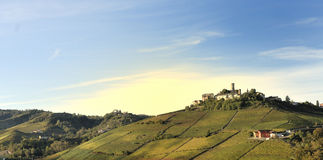 Piedmont Panorama. View of a typical landscape of Piedmont hilly land, Italy Stock Photos