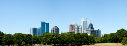Piedmont Park in Atlanta, GA. With Skyline in the back on a sunny summer day Royalty Free Stock Image