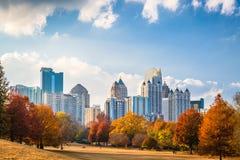 Piedmont Park Atlanta. Atlanta, Georgia, USA midtown skyline from Piedmont Park in autumn Royalty Free Stock Photo