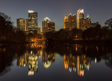 Piedmont Park Atlanta Night Stock Photo
