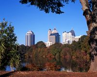 Piedmont Park, Atlanta, USA. Stock Photos