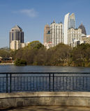 Piedmont Park by the pond Royalty Free Stock Image