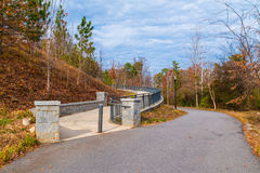 Piedmont Park Trail and footpath to Grand Arbor, Atlanta, USA royalty free stock photography