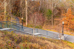 Piedmont Park Trail and stairs to Grand Arbor, Atlanta, USA Stock Image