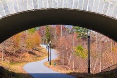 Piedmont Park Trail and stone bridge closeup, Atlanta, USA Stock Images