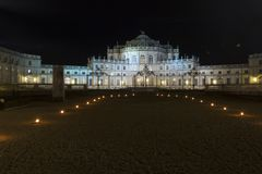 Piedmont - Stupinigi - Italy - the Savoia hunting apartment. Open for the tourist that desire see the ancient house of italian monarch royalty free stock images