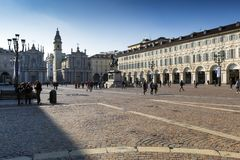 Piedmont -Turin - Italy - Piazza San Carlo Royalty Free Stock Photography