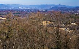 Piedmont Valley and Blue Ridge Mountains. View of the Piedmont Valley with the Blue Ridge Mountains in the Background located on the Blue Ridge Parkway, Floyd Royalty Free Stock Photography