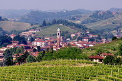 Piedmont Village. Typical village of the Piedmont wine county, Italy Royalty Free Stock Images