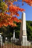 Piedra alta del cementerio Fotos de archivo libres de regalías