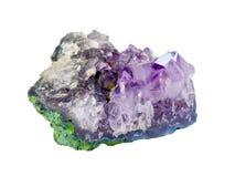 Piedra Amethyst Fotografía de archivo libre de regalías