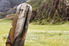 Piedra antigua de los ciervos Imagen de archivo libre de regalías