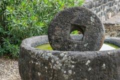 Piedra antigua del molino Fotografía de archivo