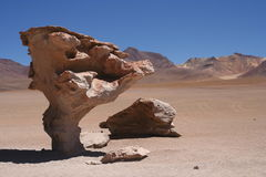 Piedra Arbol rock. Piedra Arbol, one of the amazing rock and stone formations on the bolivian Altiplano, Bolivia Stock Photography