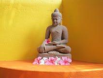 Piedra arenisca Buddha Fotografía de archivo libre de regalías