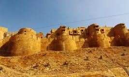 Piedra arenisca de oro del fuerte de Jaisalmer Fotografía de archivo libre de regalías
