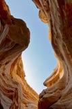 Piedra arenisca en el barranco rojo, Israel Imagen de archivo