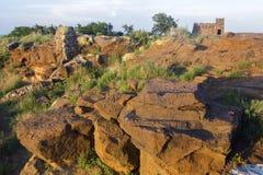 Piedra arenisca en las alturas de Coronado Imagen de archivo libre de regalías