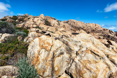 Piedra arenisca en las rocas del canal Imagen de archivo