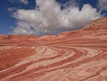 Piedra arenisca en los acantilados bermellones Arizona Fotos de archivo libres de regalías