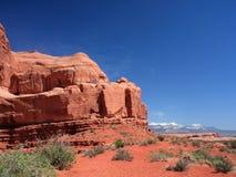Piedra arenisca en los arcos parque nacional, Utah Foto de archivo libre de regalías