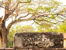 Piedra arenisca que talla en Prasat Hin Phimai Fotografía de archivo