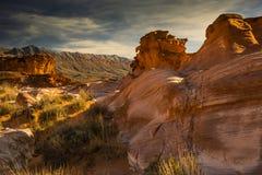 Piedra arenisca resistida de Nevada meridional Foto de archivo