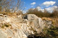 Piedra blanca Foto de archivo libre de regalías