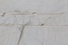 Piedra blanca de la textura con las rayas Fotografía de archivo