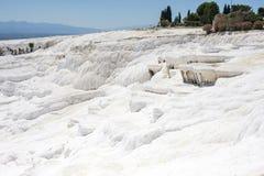 Piedra blanca, Pamukkale Fotos de archivo libres de regalías