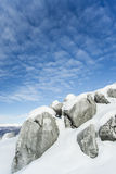 Piedra caliza del invierno Imagen de archivo