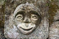 Piedra con la cara Imágenes de archivo libres de regalías