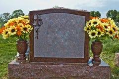 Piedra conmemorativa en blanco fotografía de archivo
