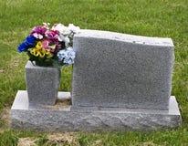 Piedra conmemorativa en blanco fotos de archivo