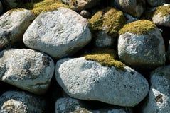 Piedra cubierta con el musgo Foto de archivo libre de regalías