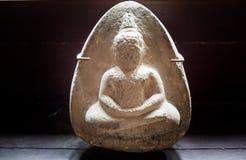 Piedra de Buda que talla el amuleto - Luang Prabang, Laos Foto de archivo libre de regalías