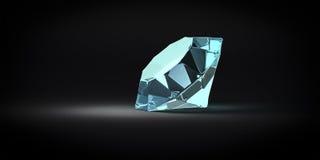 Piedra de gema azul stock de ilustración