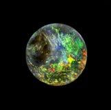 Piedra de gema del ópalo redonda Fotografía de archivo