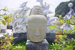 Piedra de la cabeza de Buda Fotos de archivo libres de regalías