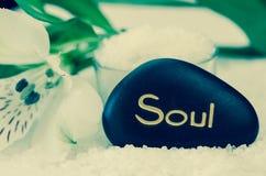 Piedra de la lava del alma foto de archivo libre de regalías