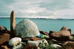 Piedra de la lengua tibetana Imagen de archivo