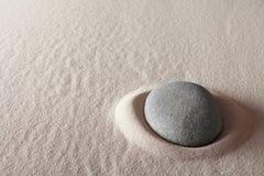 Piedra de la meditación del zen Imagen de archivo