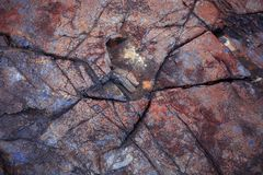 Piedra de la naturaleza Fotografía de archivo