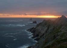 Piedra de la puesta del sol Fotos de archivo libres de regalías